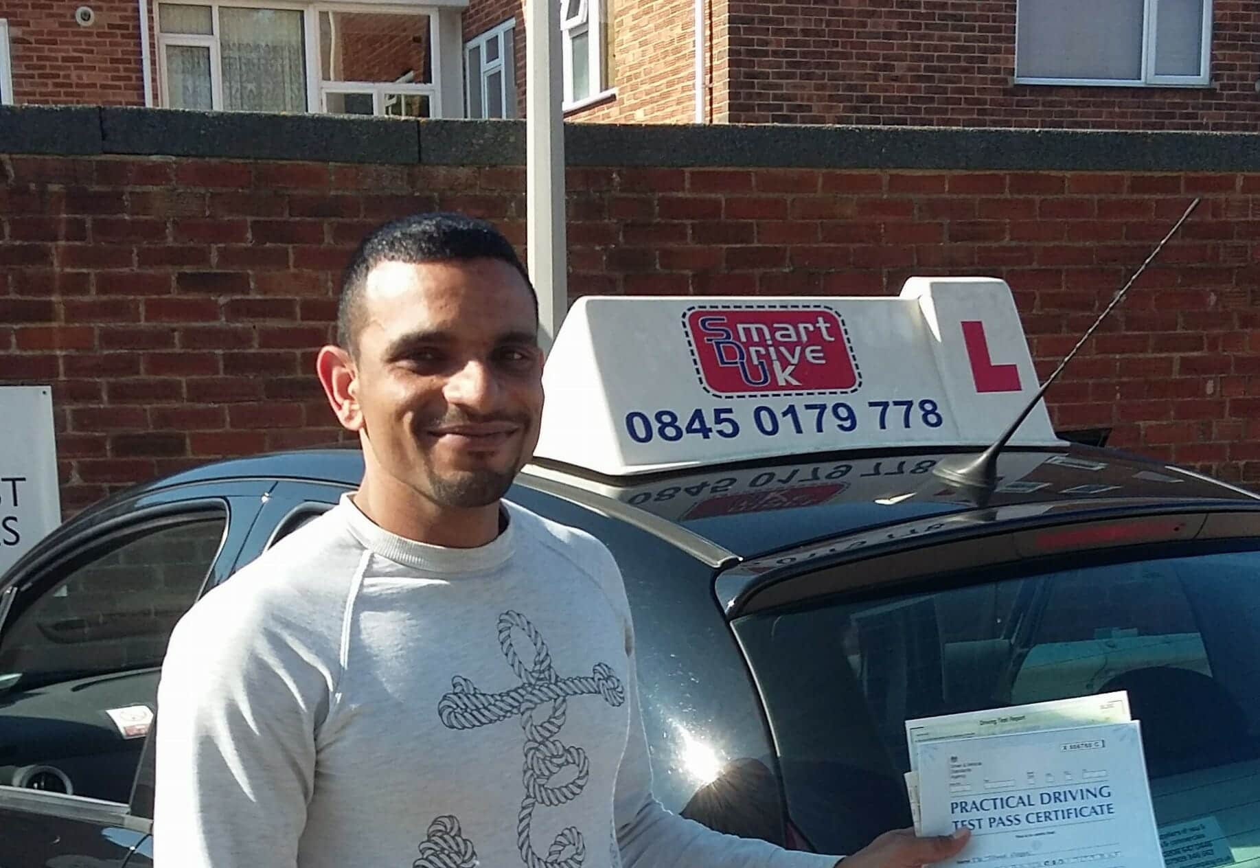Congratulations to Tahir from Worthing