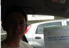 Congratulations to Ross Stanley from Shoreham. First Time Pass !!
