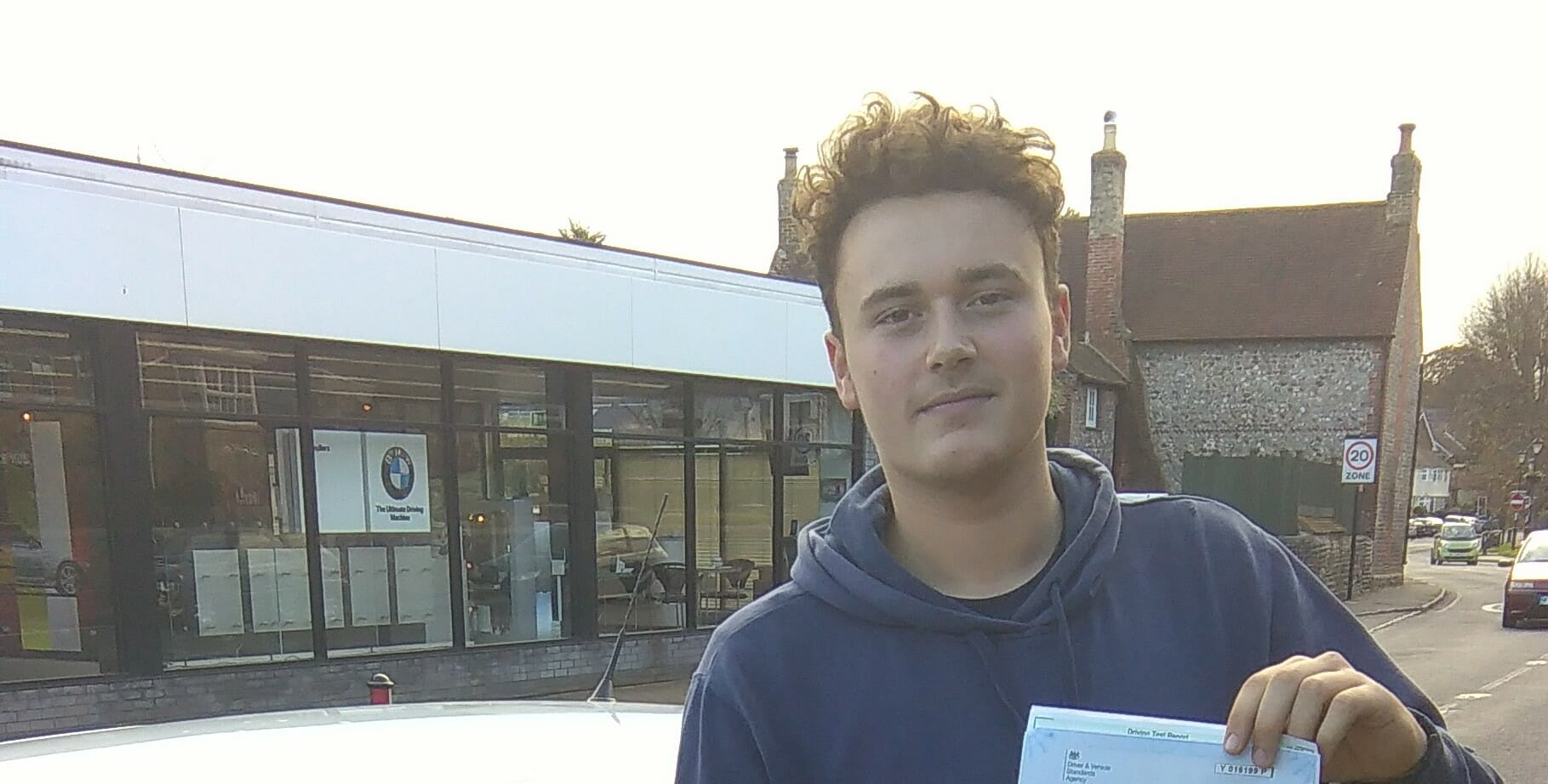 Driving Lessons Worthing. Well done George. First Time Pass!!