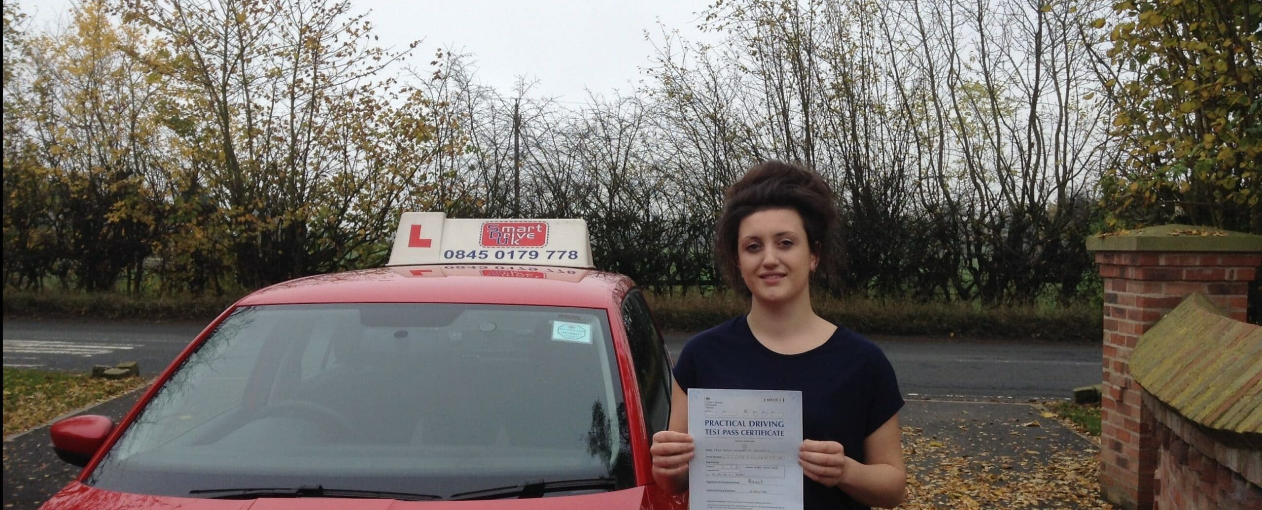 Congratulations to Aimee Anderson of York. First Time Pass