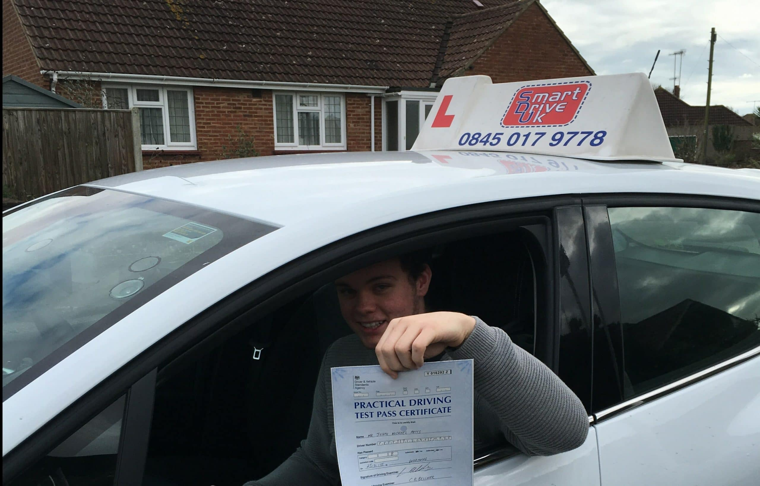 Congratulations to Joe from Worthing. First Time Pass !!