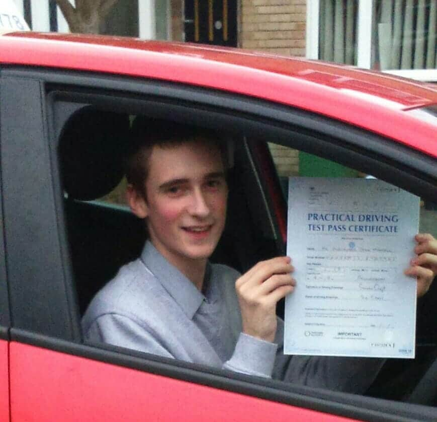 Well done to Alex Mandall Driving Lessons Poole