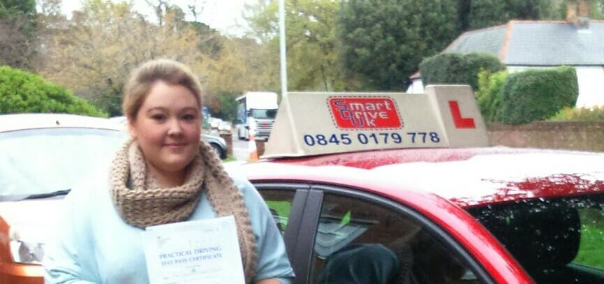 Congratulations to Ashleigh Vincent from Poole. First Time Pass !!