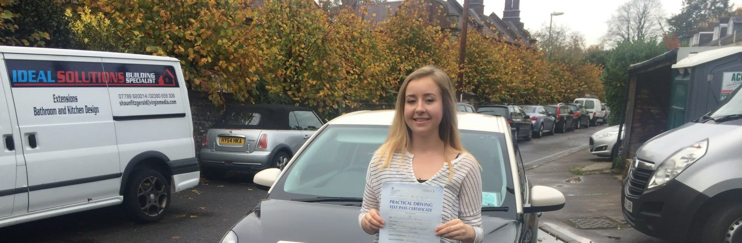 Well done to Alicia Hammond from Winchester. First Time Pass !!