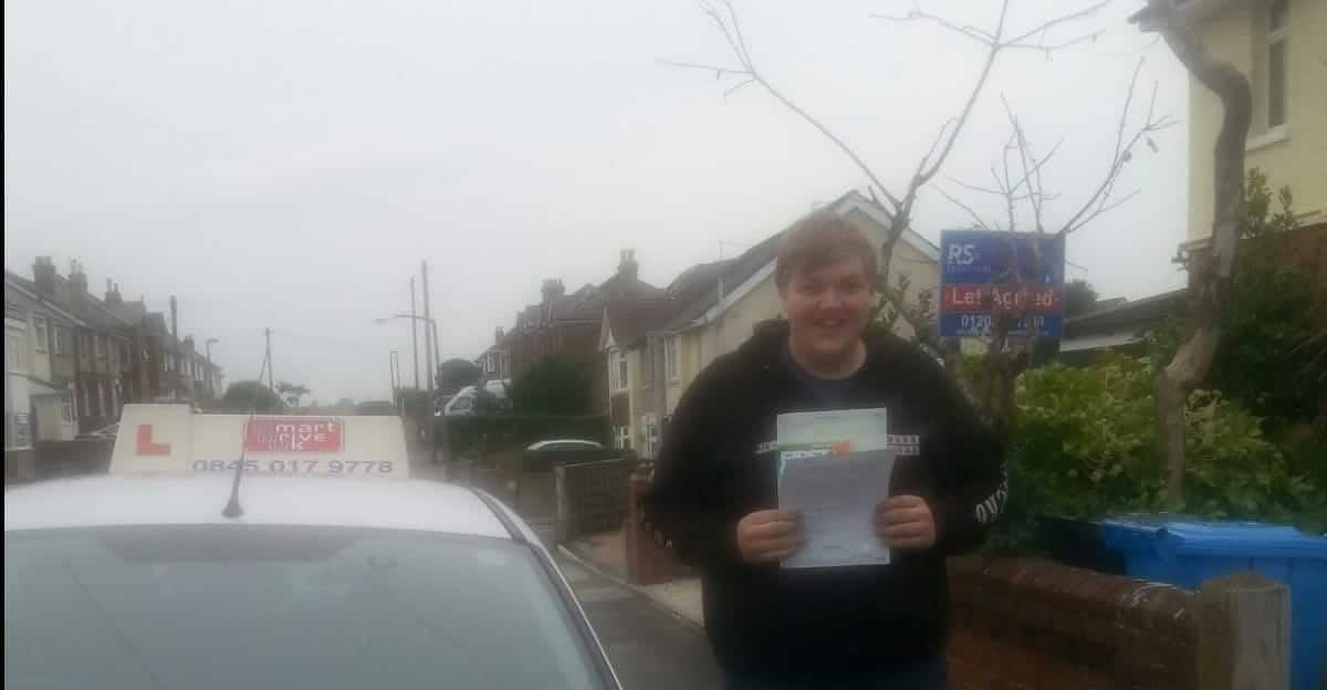 Congratulations to Nicholas from Poole. First Time Pass. Zero Faults!!