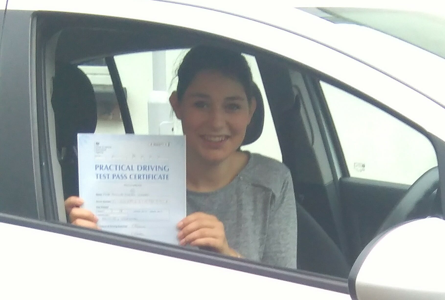 Well Done to Pippa Cicero of Worthing. First time pass!!