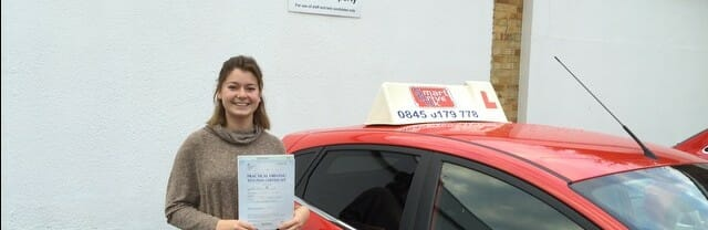 Congratulations to Harriet Clemo from Locks Heath. First Time Pass !!