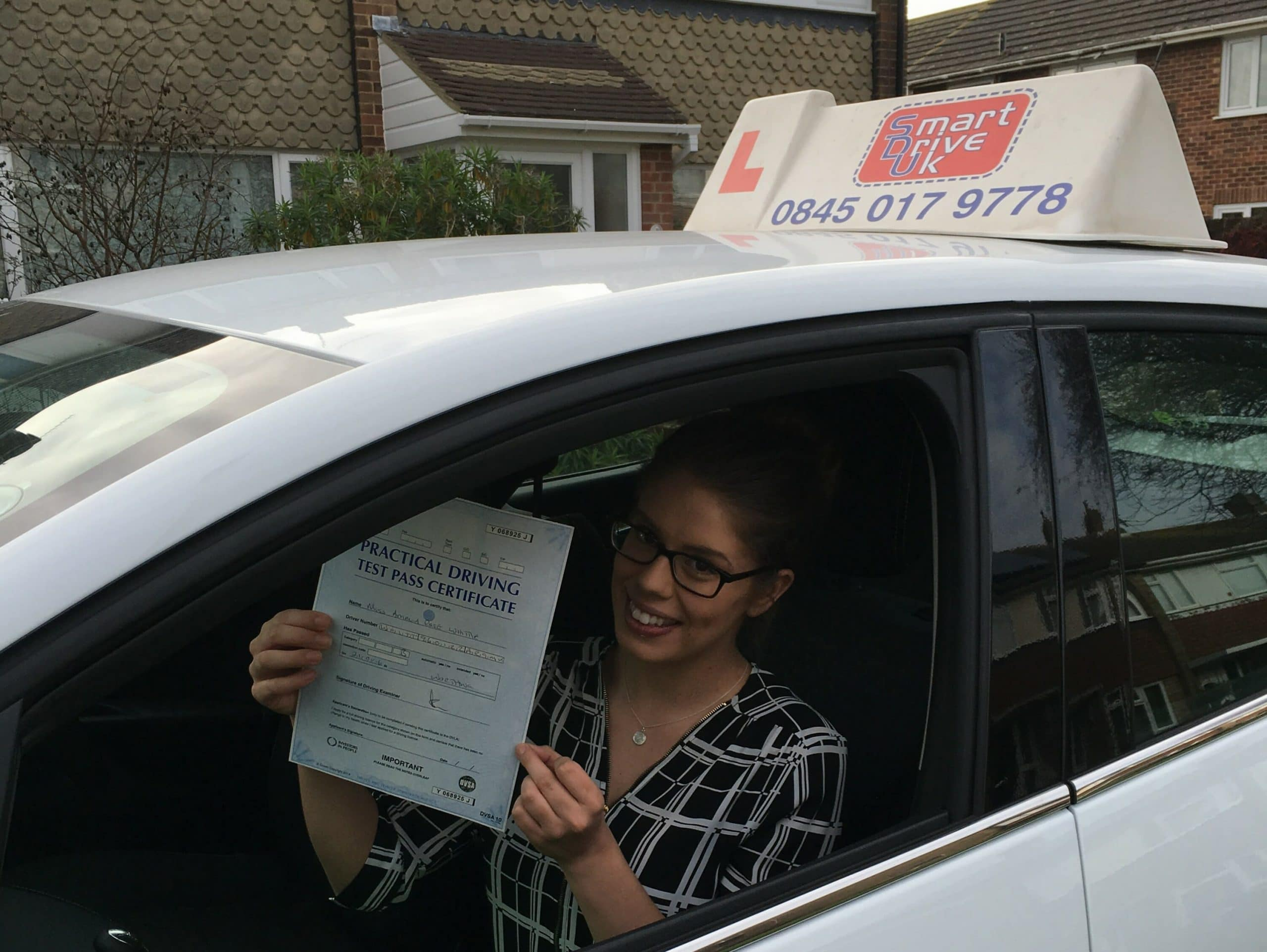 Congratulations to Amelia from Worthing. First Time Pass!!