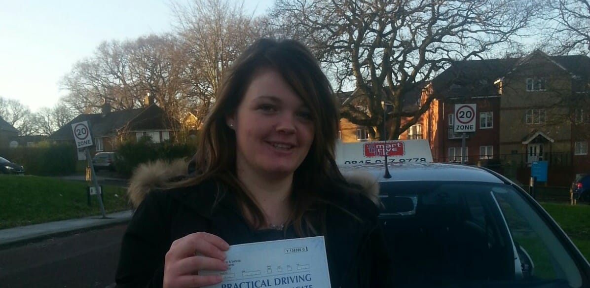 Congratulations to Sophie from Verwood. First Time Pass!!