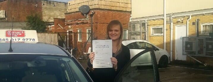 Congratulations to Becky from Bournemouth. First Time Pass!!