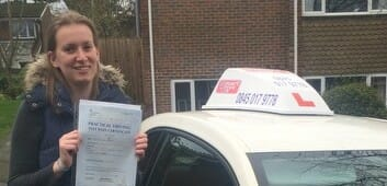 Congratulations to Lydia Simpson from Winchester. 1st time Pass!!