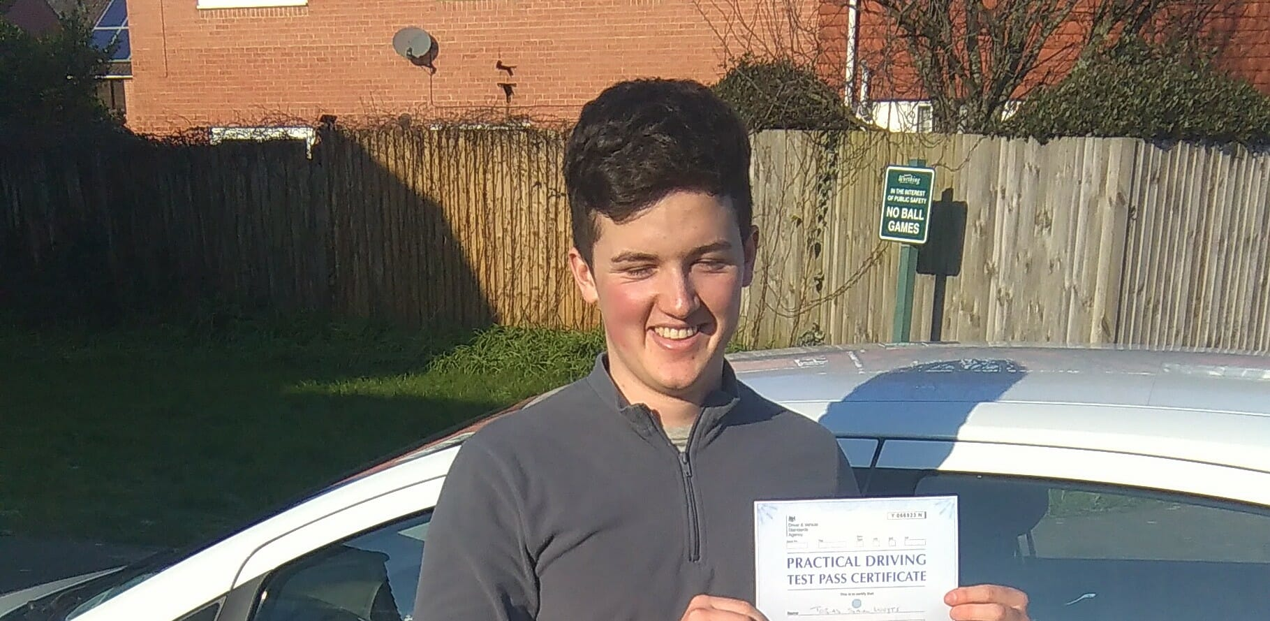 Congratulations to Toby Wuyts from Worthing. First Time Pass!!