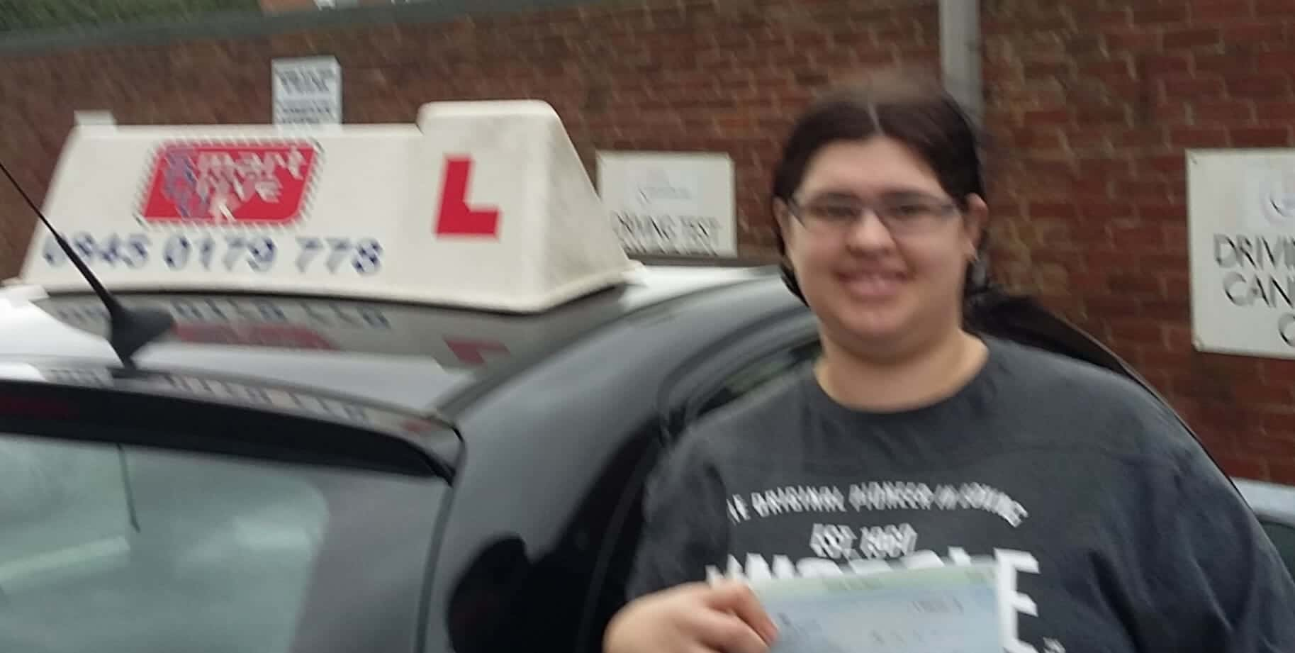Well Done to Sarah Walker from Worthing. First Time Pass!!