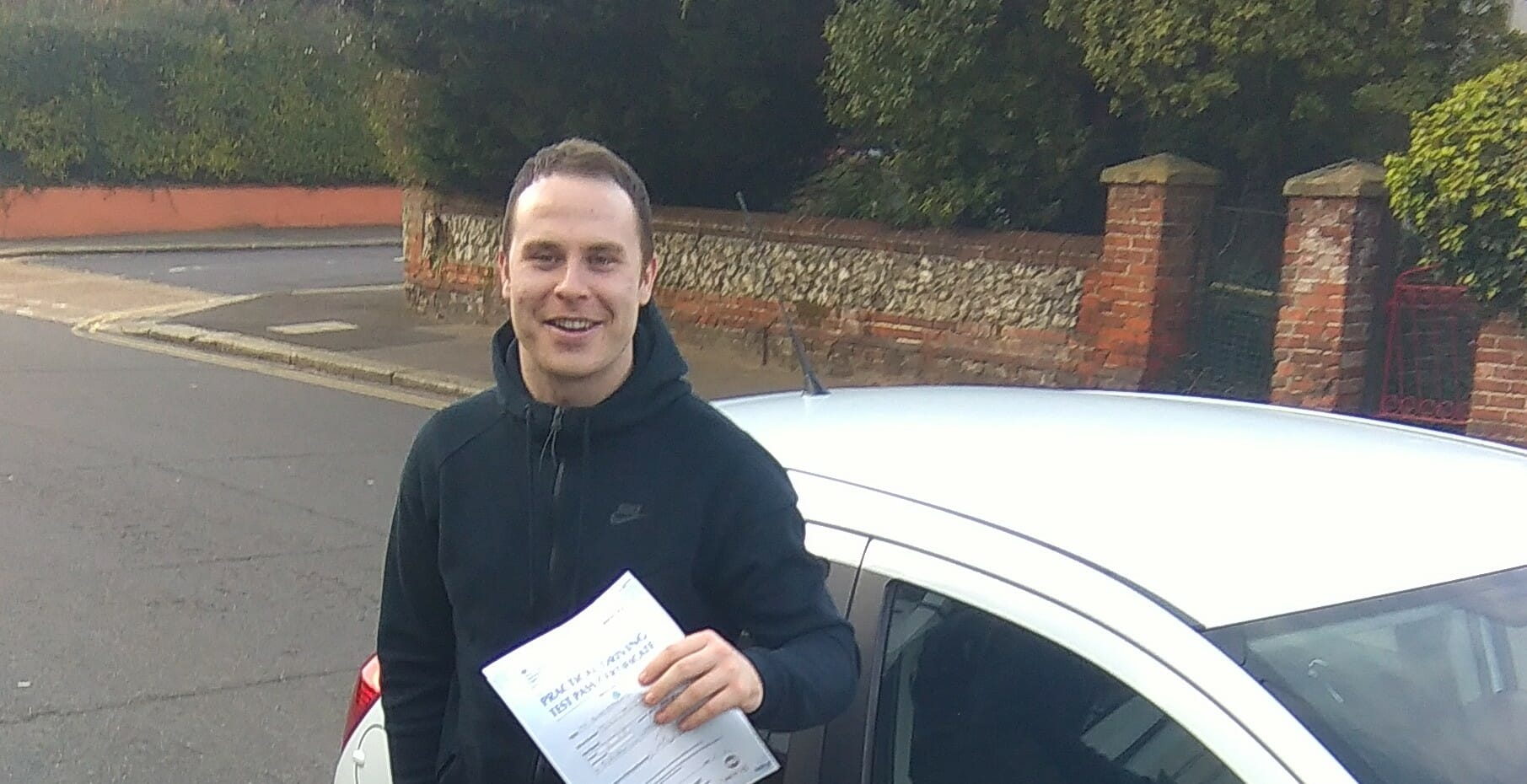 Congratulations to Ben Jenkins from Worthing. First Time Pass!!