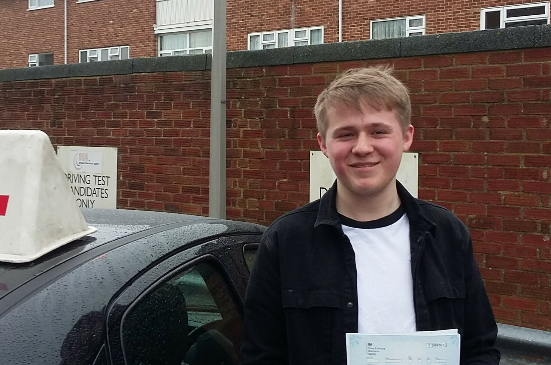 Congratulations to Oliver from Worthing. First time pass!!