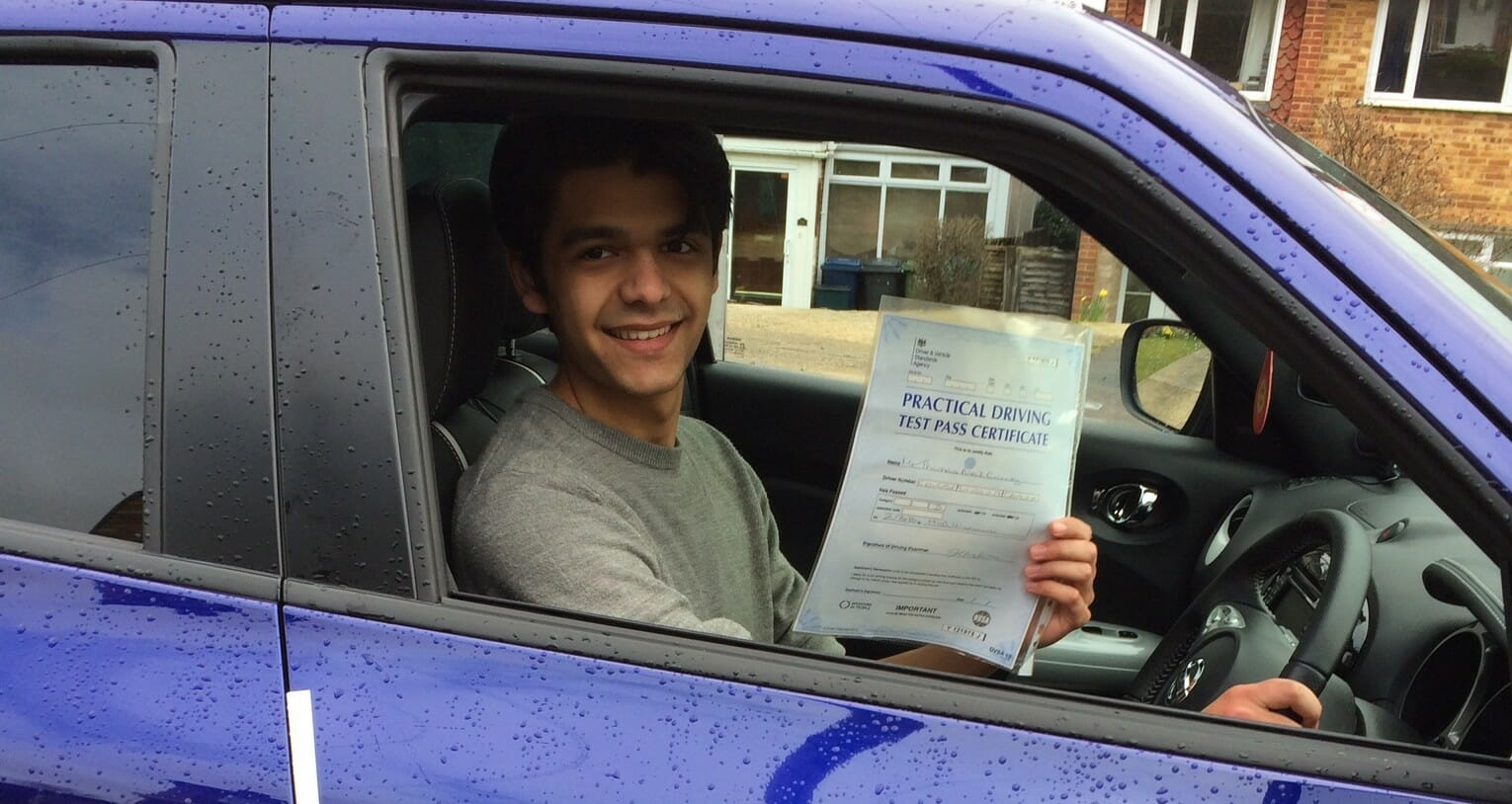 Congratulations to Tom Correy of High Wycombe. First Time Pass!!