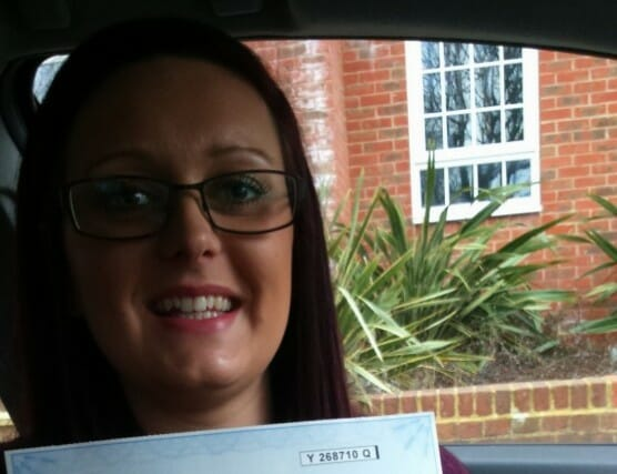 Congratulations to Chantelle Avey from Worthing. First Time Pass!!