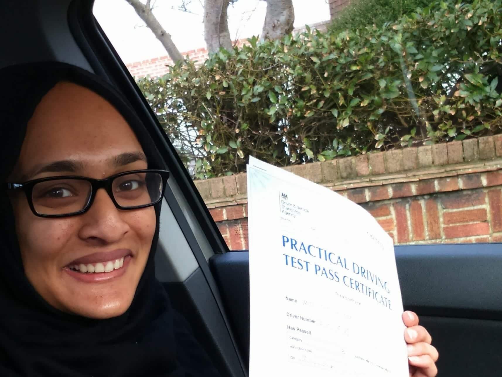 Congratulations to Samiha Azir from Worthing