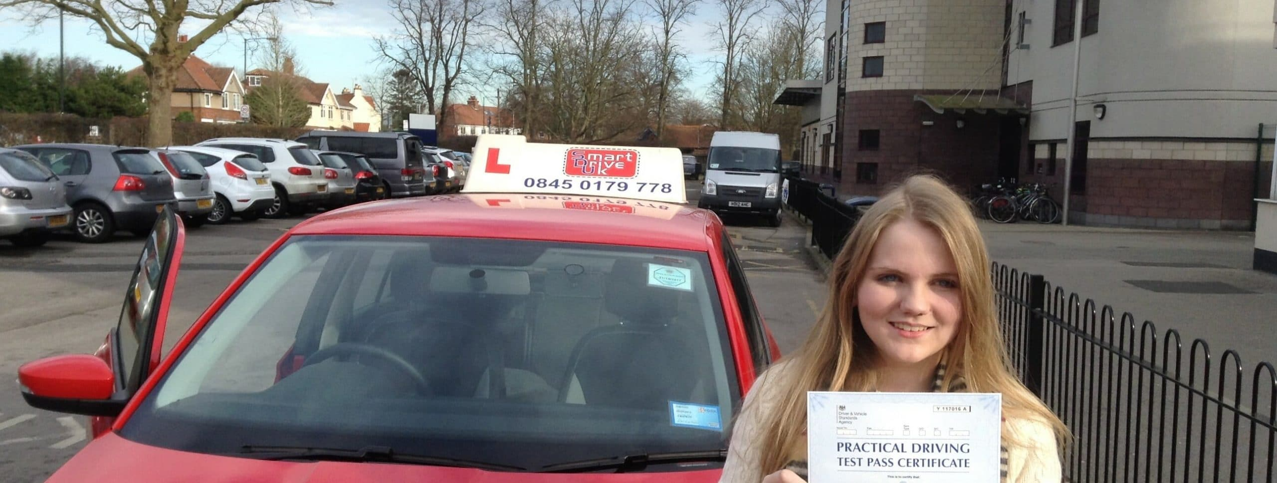 Congratulations to Charlotte Wilkinson of York. First time pass!!