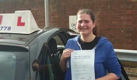 Well done to Rosie Denyer from Worthing. First Time Pass!!