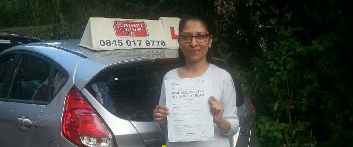 Well done to Arpana from Bournemouth. First Time Pass!!