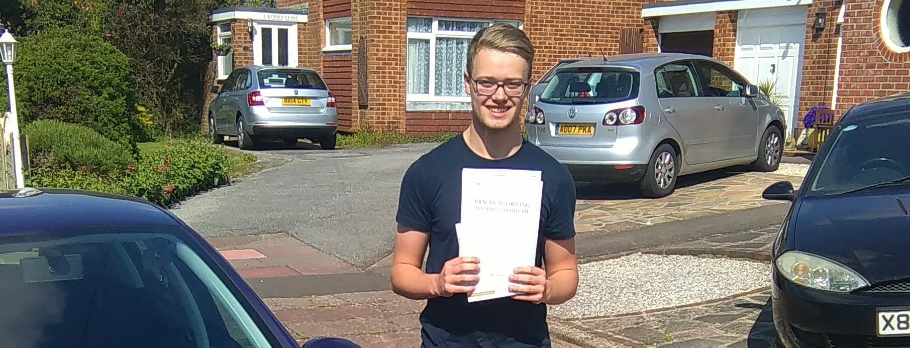 First Time Pass!!. Well done to Jordan Slade in Worthing