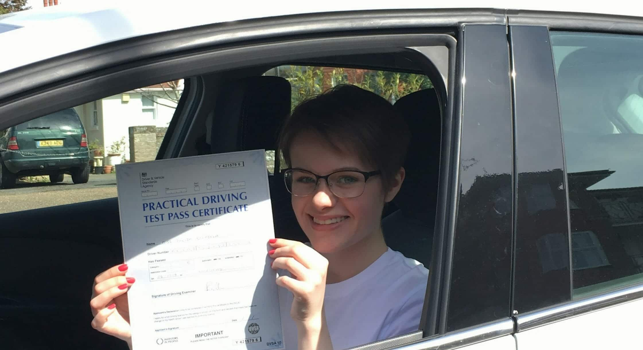 Zero Driving Faults!!! Congratulations to Julia from Worthing.