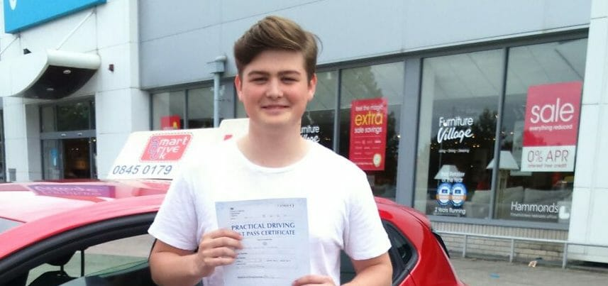 First Time Pass!! Well done to George Harper from Poole