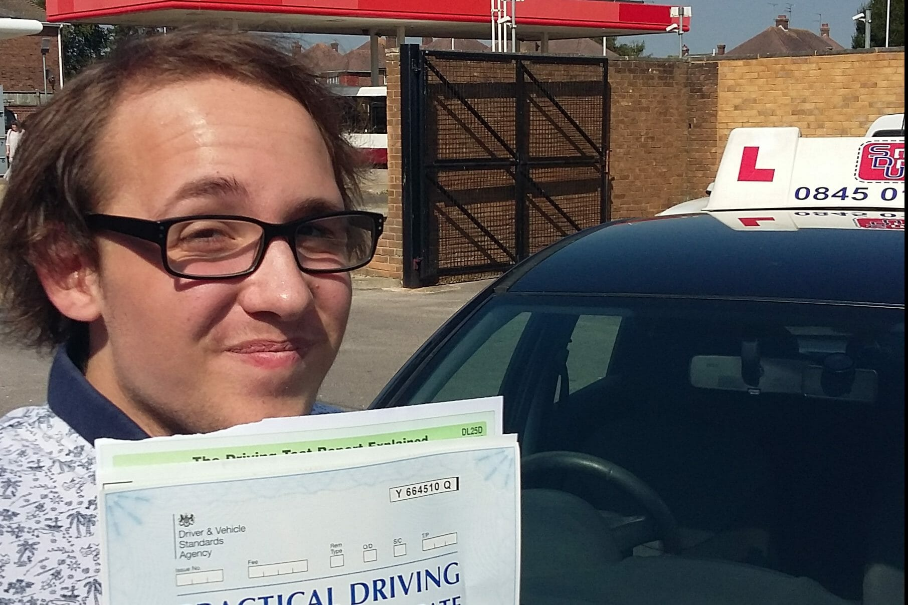 First Time Pass!! Well done to George McClean from Worthing