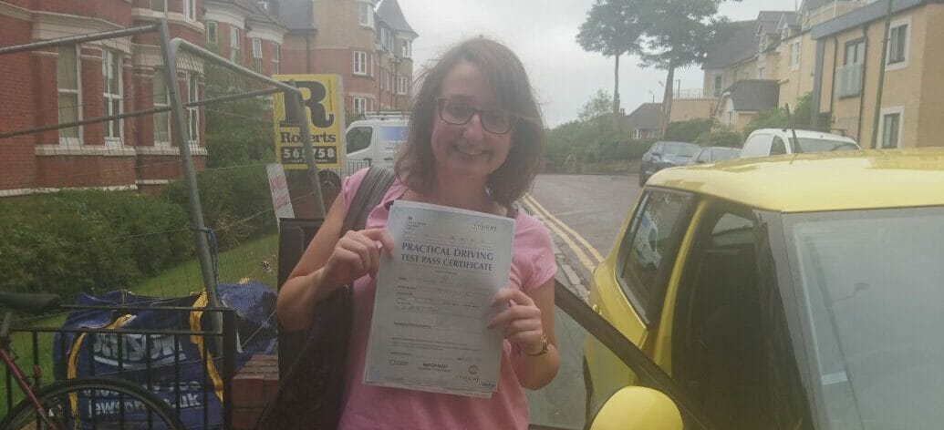 Congratulations to Grace. Driving Test in Poole