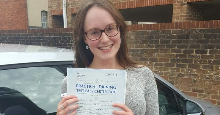 First Time Pass!! Congratulations to Sophie Collins of Tonbridge