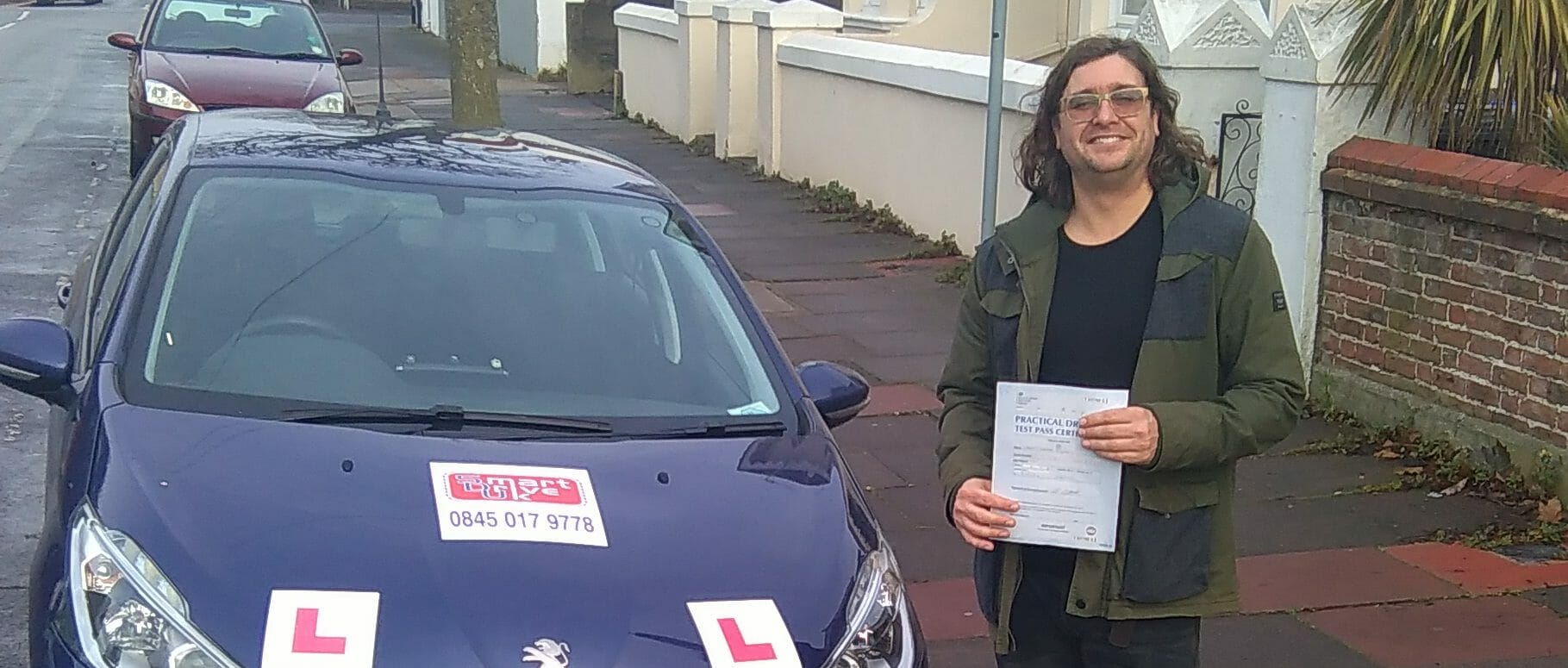 First Time Pass!! Well done to James Dickson of Worthing