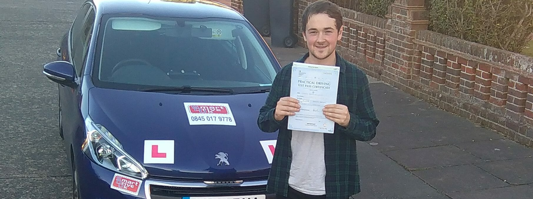 Zero Faults & First Time Pass!! Well Done Tom Walker of Worthing