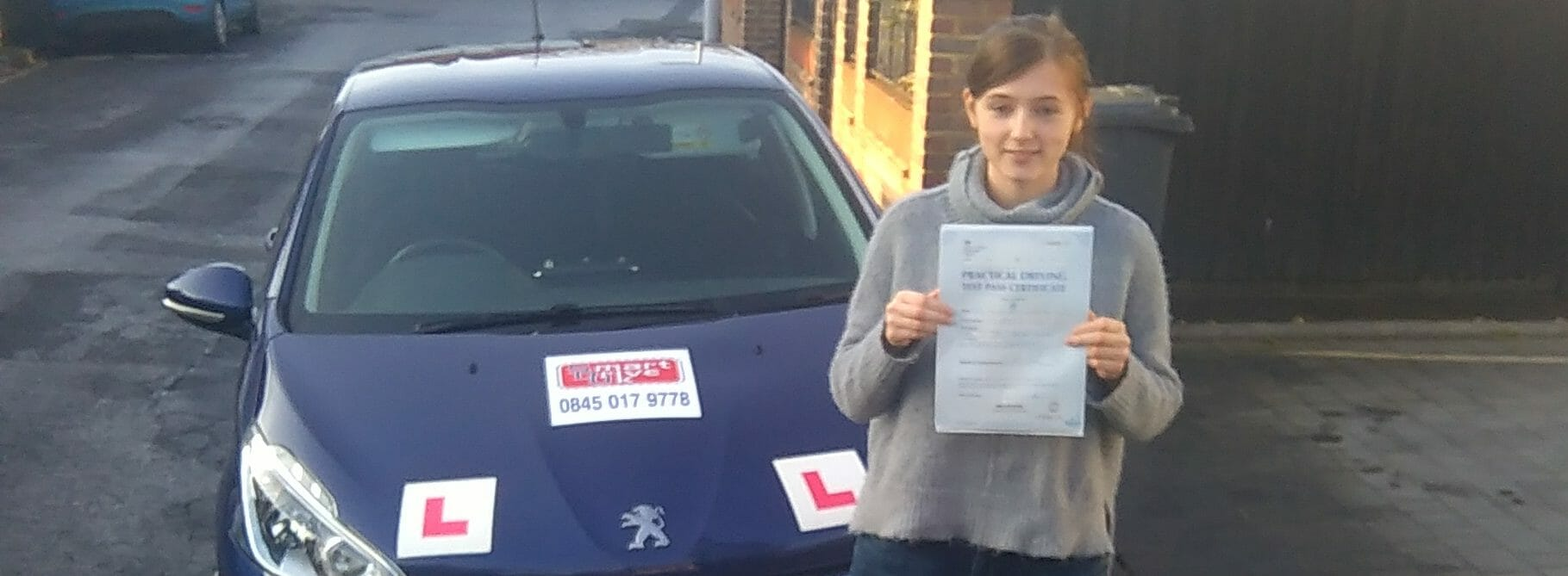 First Time Pass !! Well done to Molly from Worthing.