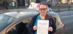 Congratulation to Rachel from Littlehampton
