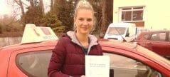 First Time Pass !! Well done to Egija Zonenberga from Bognor Regis