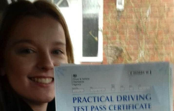 First Time Pass !! Well done to Jessica Varndell from Verwood.