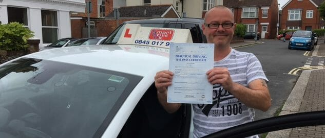 First Time Pass!! Well done to Paul from Worthing.