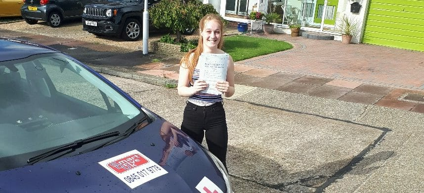 First Time Pass!! Well done to Megan Slade of Worthing.