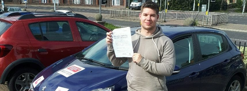 First Time Pass!! Well done to Jamie Hide from Worthing