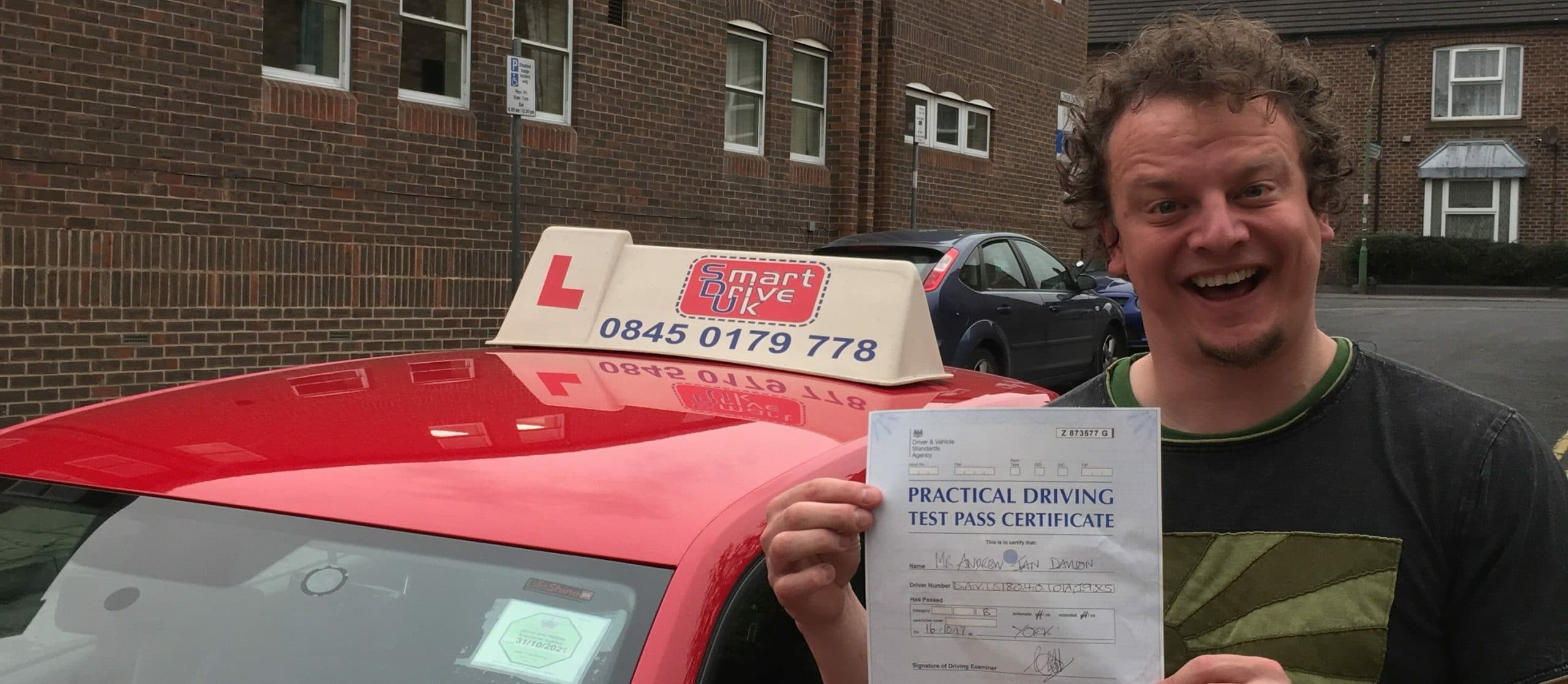 First Time Pass !! Congratulations to Andy Davison of York