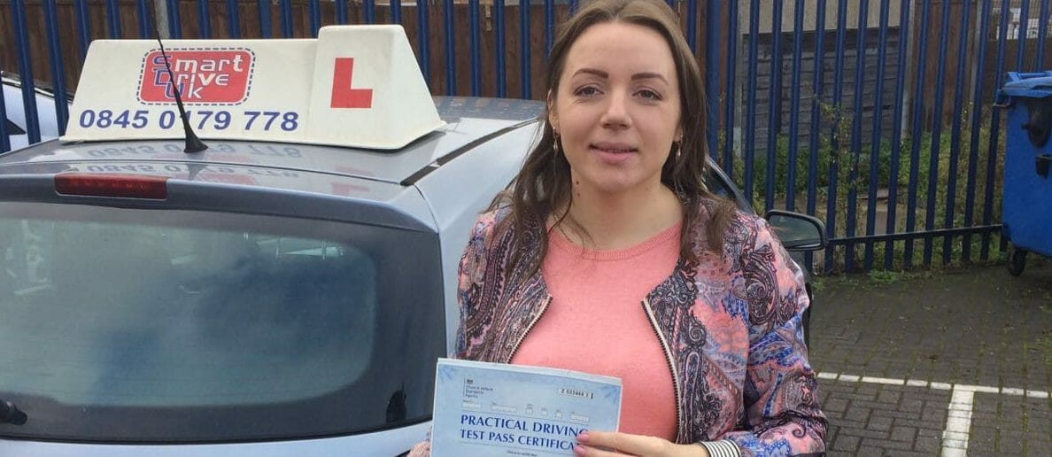 First Time Pass!! Well done to Corina from Tilbury