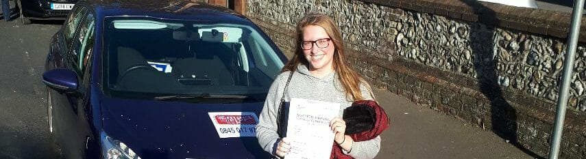 First Time Pass!! Well done to Georgia Martin of Worthing