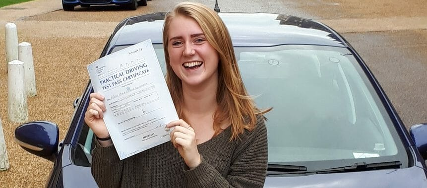 First Time Pass!!! Congratulations to Olivia from Worthing.