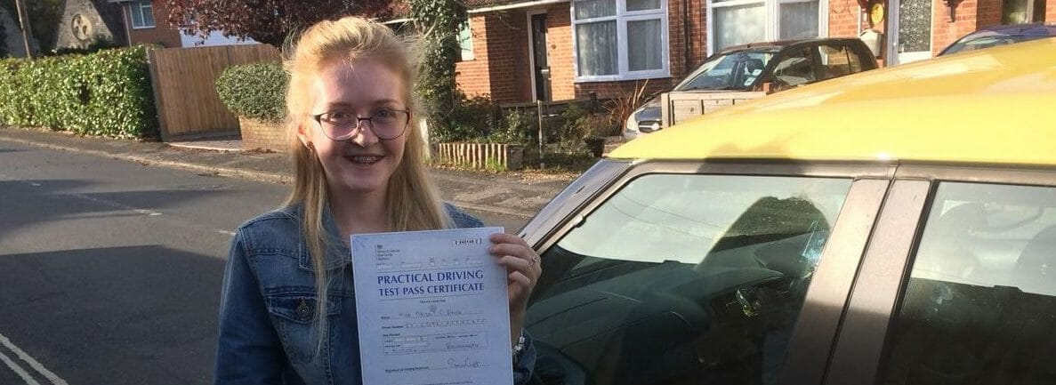 First Time Pass!! Congratulations Abigail Brice of Bournemouth