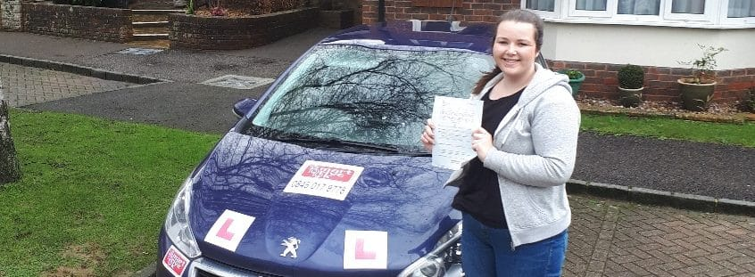 First Time Pass!! Well done to Lucy Haddock of Angmering near Littlehampton