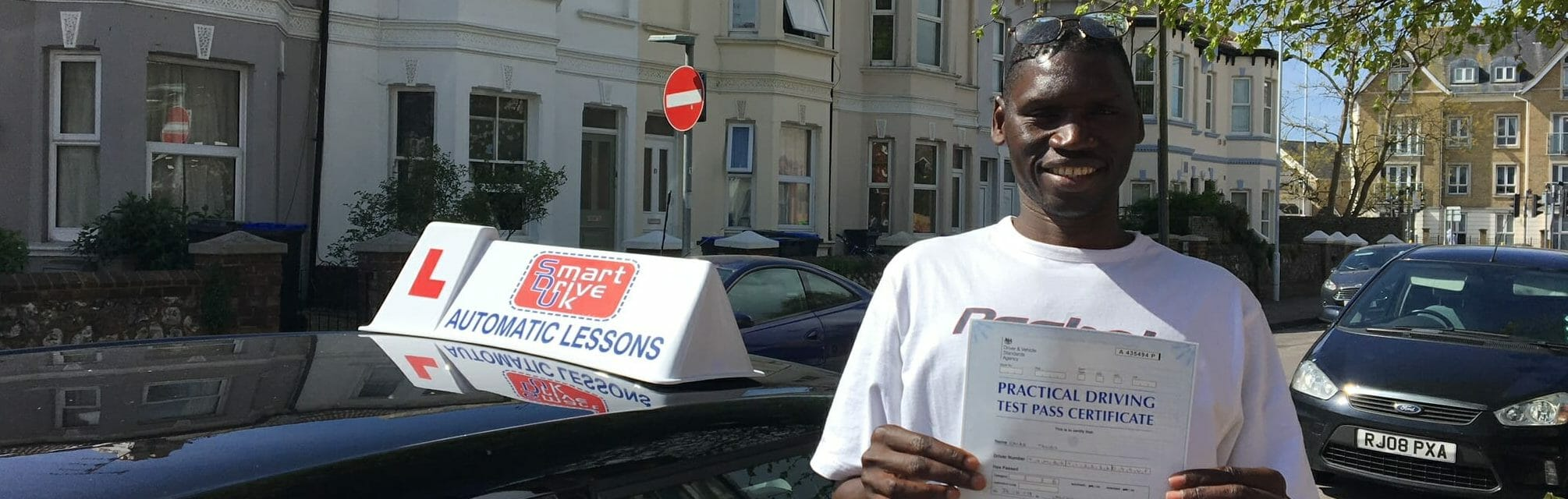 Automatic Driving Lessons. Well done to Omar of Worthing