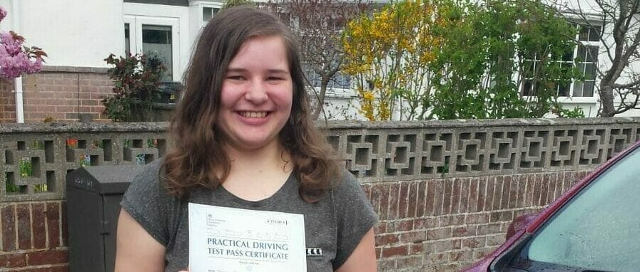 First time Pass!! Congratulations to Molly Hayward from Bournemouth