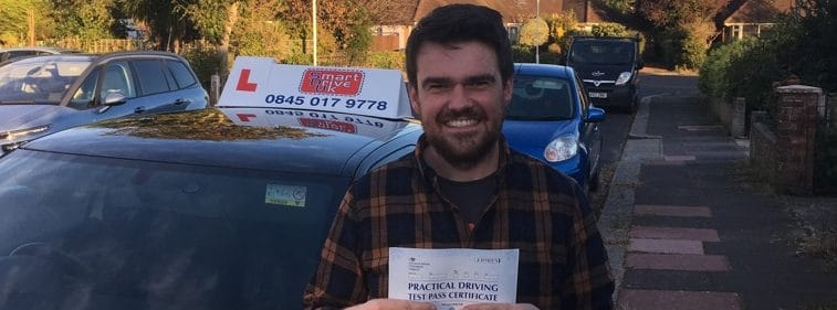 First Time Pass!! Well done to Mark from Worthing