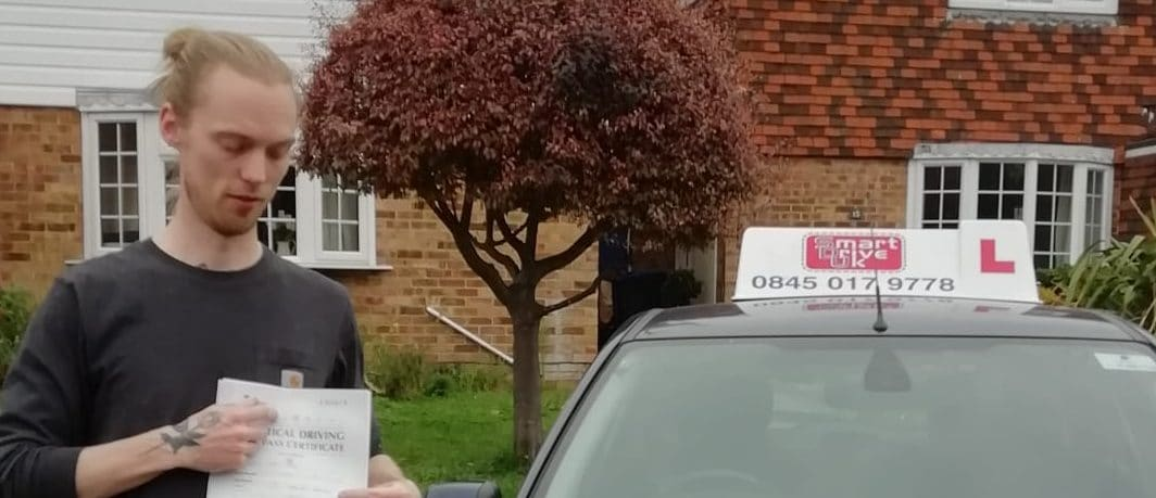 First Time Pass !! Well done to Daniel of Worthing